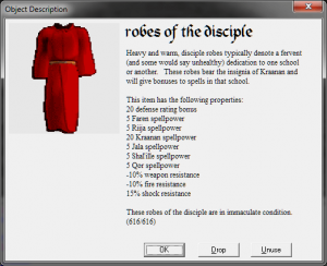 Disciple robe