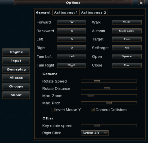 Ogre client camera settings