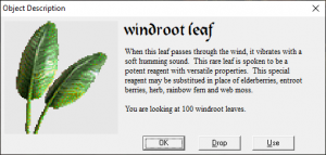 Windroot leaf