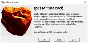 Spessartine rock