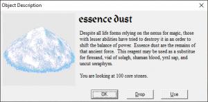 Essence dust